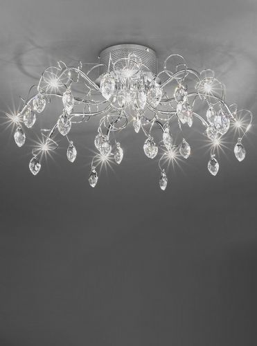 Franklite FL2234/10 Chrome Ceiling Light